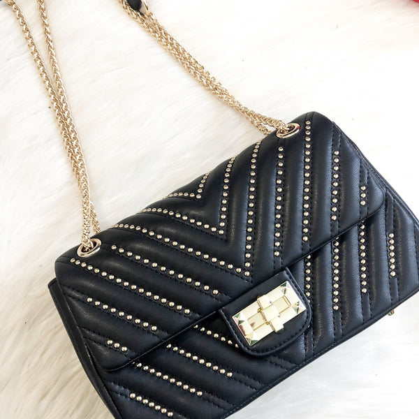 Eliana Bag: Black - Bella and Bloom Boutique