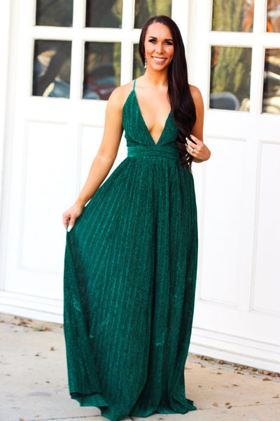 Something About You Maxi Dress: Teal - Bella and Bloom Boutique