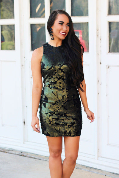 Star of the Show Dress: Olive - Bella and Bloom Boutique