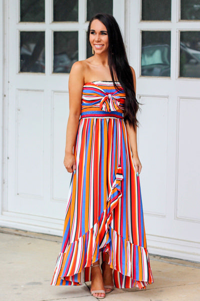 Ringleader Maxi Dress: Multi - Bella and Bloom Boutique
