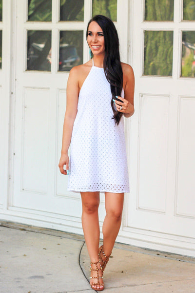 Boardwalk Kisses Dress: White - Bella and Bloom Boutique