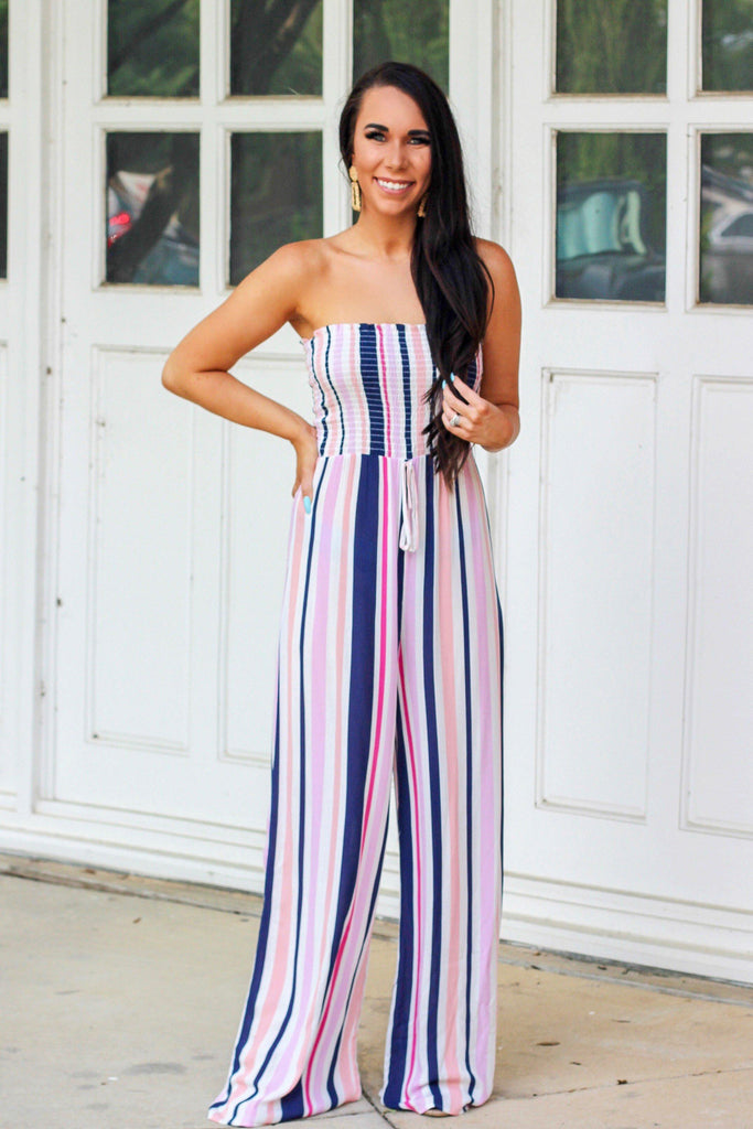 RESTOCK: Passionfruit Jumpsuit: Multi - Bella and Bloom Boutique
