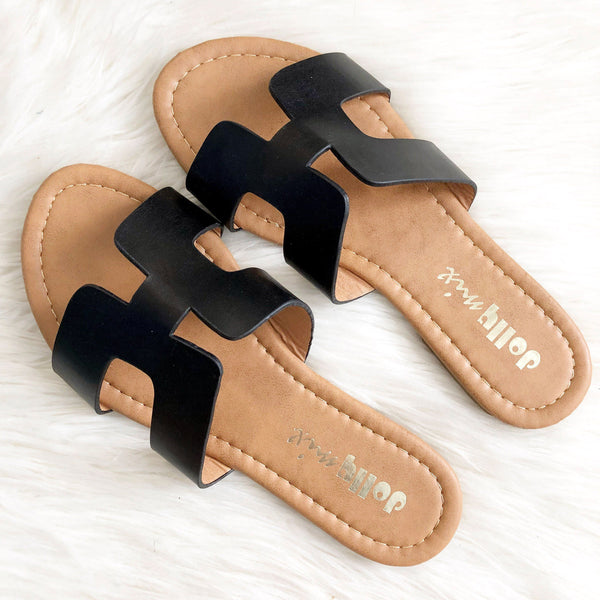 RESTOCK: Alayna Sandals: Black - Bella and Bloom Boutique
