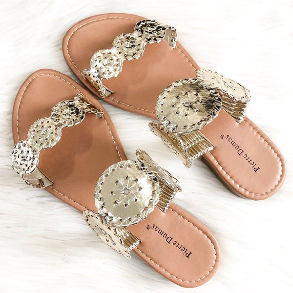 RESTOCK: Seaside Sandals: Gold - Bella and Bloom Boutique