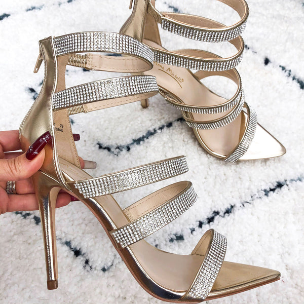 Evening Glam Heels: Gold - Bella and Bloom Boutique