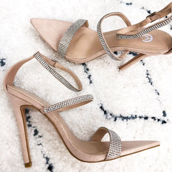 RESTOCK: In Any Event Heels: Nude - Bella and Bloom Boutique