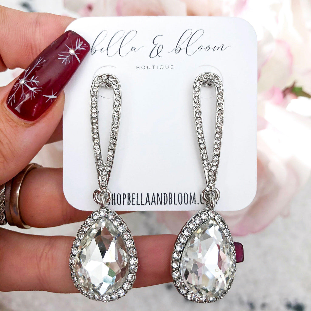 Kiss the Bride Earrings: Silver - Bella and Bloom Boutique