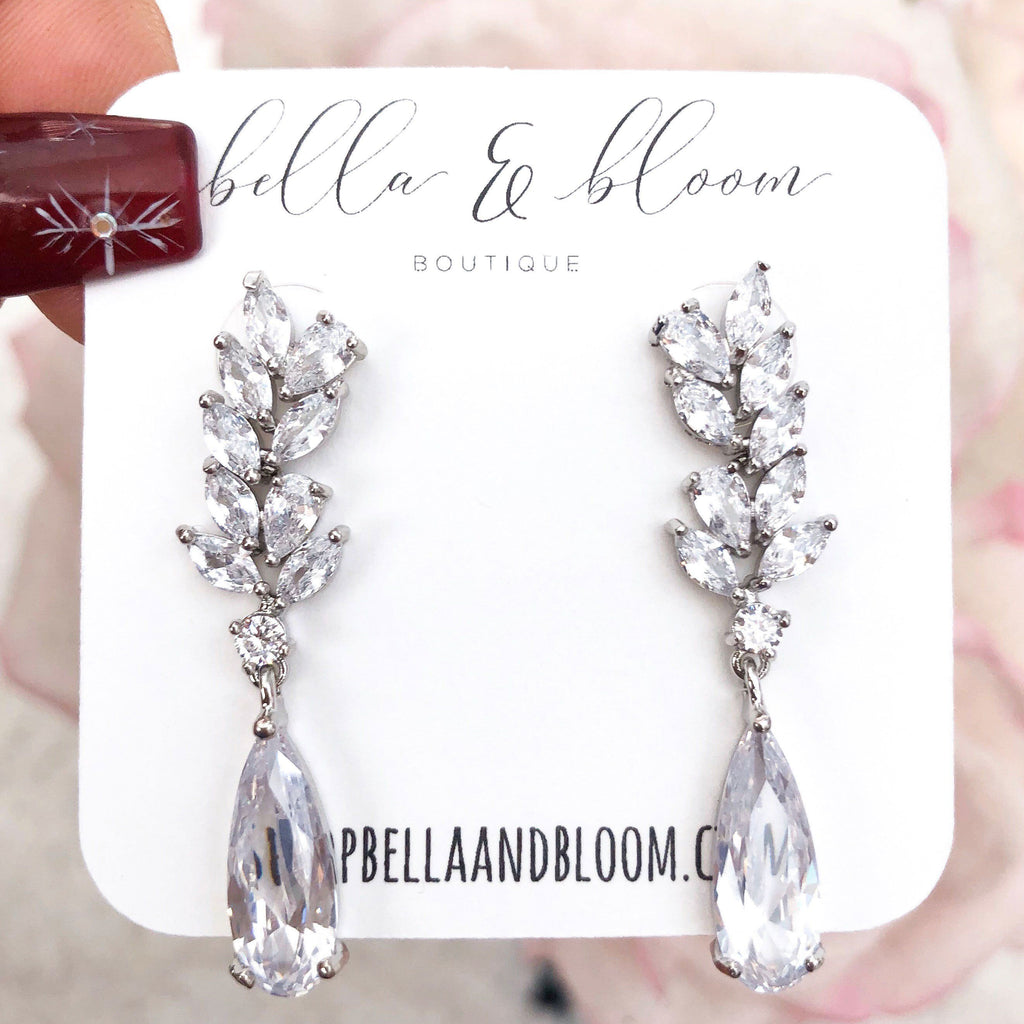RESTOCK: Wedding Wishes Earrings: Silver - Bella and Bloom Boutique