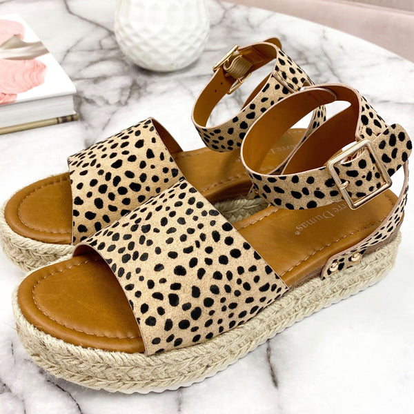 Raelynn Espadrille Flatform Sandals: Cheetah - Bella and Bloom Boutique
