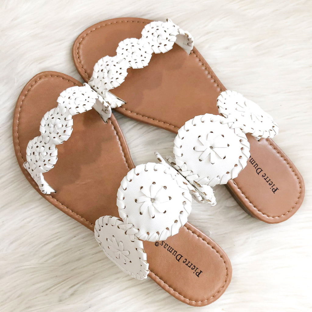 RESTOCK: Seaside Sandals: White - Bella and Bloom Boutique