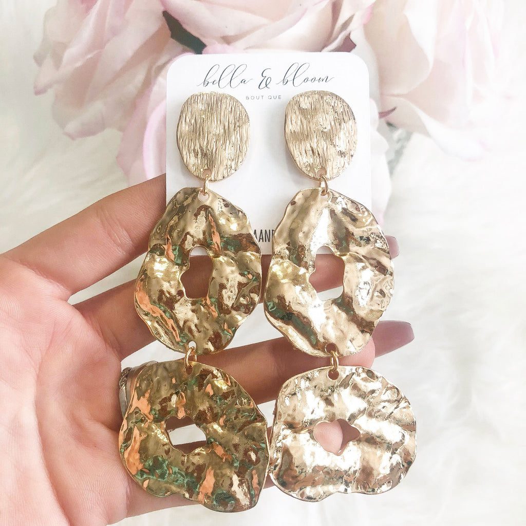 RESTOCK: Greek Goddess Earrings: Gold - Bella and Bloom Boutique