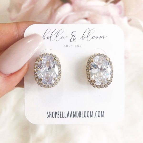 RESTOCK: Hollywood Glamour Stud Earrings: Gold - Bella and Bloom Boutique