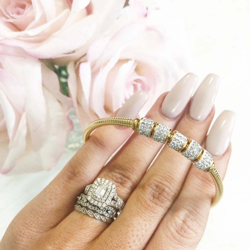 Dainty Luxe Bangle: Gold - Bella and Bloom Boutique