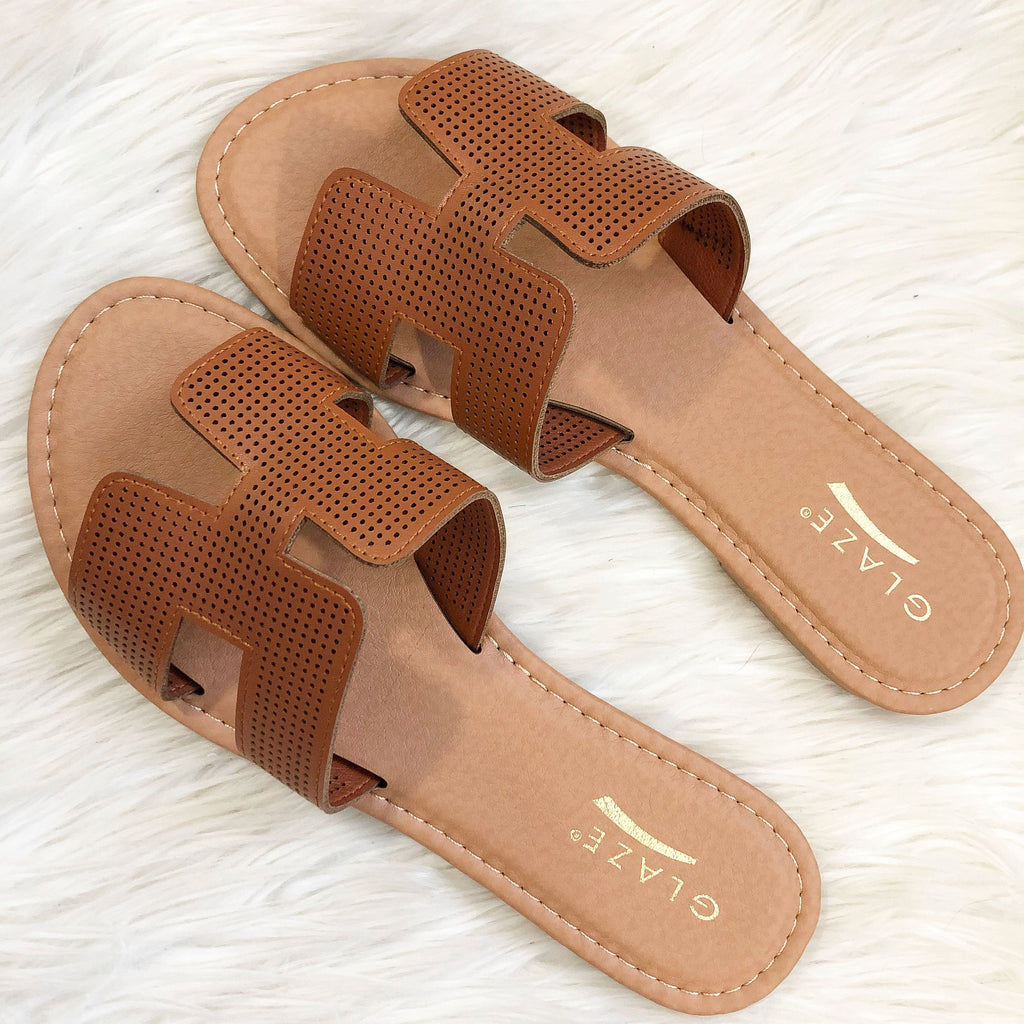 RESTOCK: Brooklyn Sandals: Cognac - Bella and Bloom Boutique