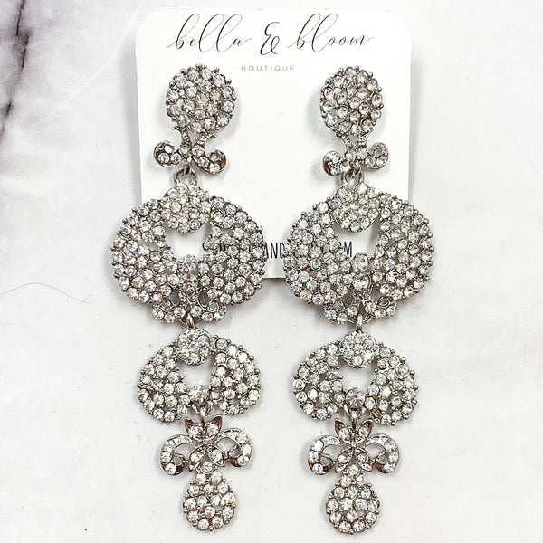 Evening Gala Earrings: Silver - Bella and Bloom Boutique