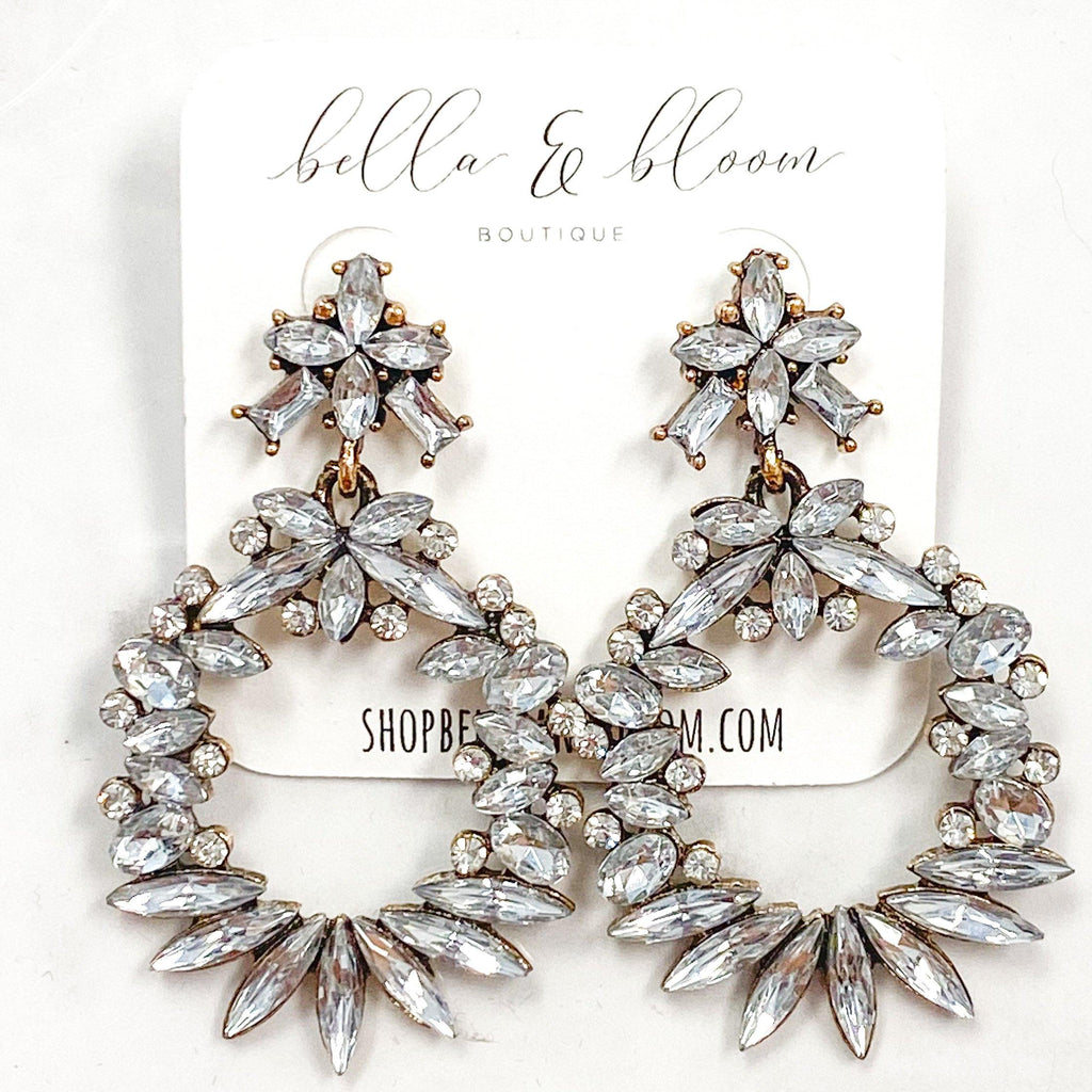 RESTOCK: Love Always Earrings: Crystal - Bella and Bloom Boutique