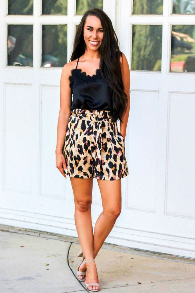 RESTOCK: Wild Side Shorts: Leopard - Bella and Bloom Boutique
