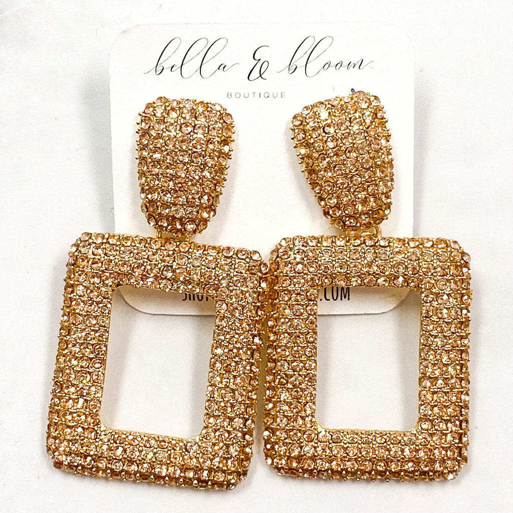 Glam Gal Earrings: Gold/Rose Gold - Bella and Bloom Boutique