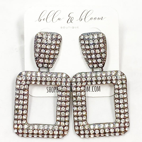 Glam Gal Earrings: Gunmetal - Bella and Bloom Boutique