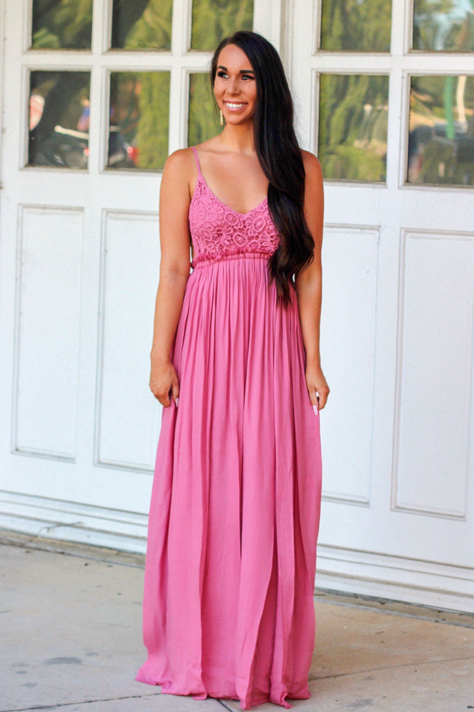 RESTOCK: Love Me Tender Maxi Dress: Rose - Bella and Bloom Boutique