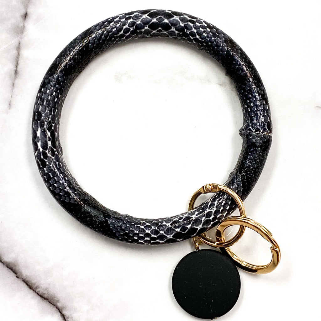 Python O Ring Key Holder: Black - Bella and Bloom Boutique