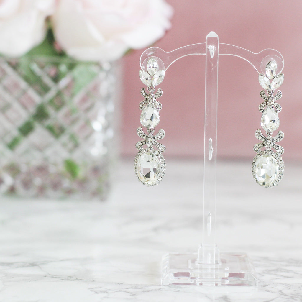 Forever In Your Arms Earrings: Crystal - Bella and Bloom Boutique