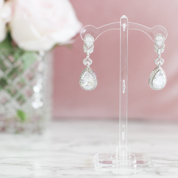 RESTOCK: Meant to Be Earrings: Crystal - Bella and Bloom Boutique