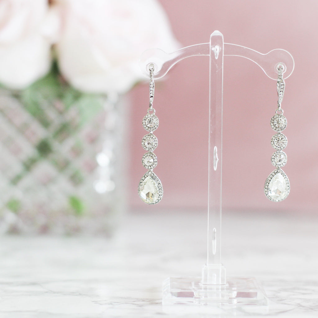Bridal Bliss Earrings: Crystal - Bella and Bloom Boutique