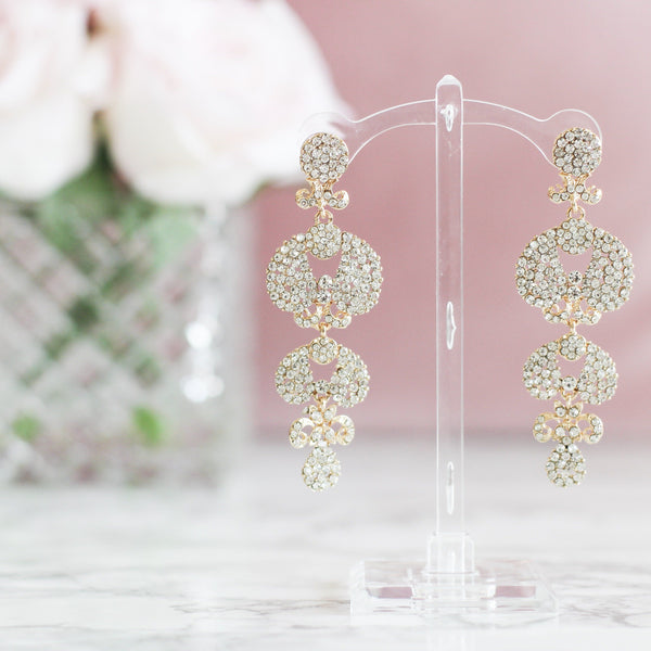 RESTOCK: Here With You Earrings: Crystal - Bella and Bloom Boutique