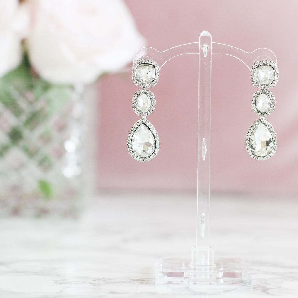 Forevermore Earrings: Crystal - Bella and Bloom Boutique
