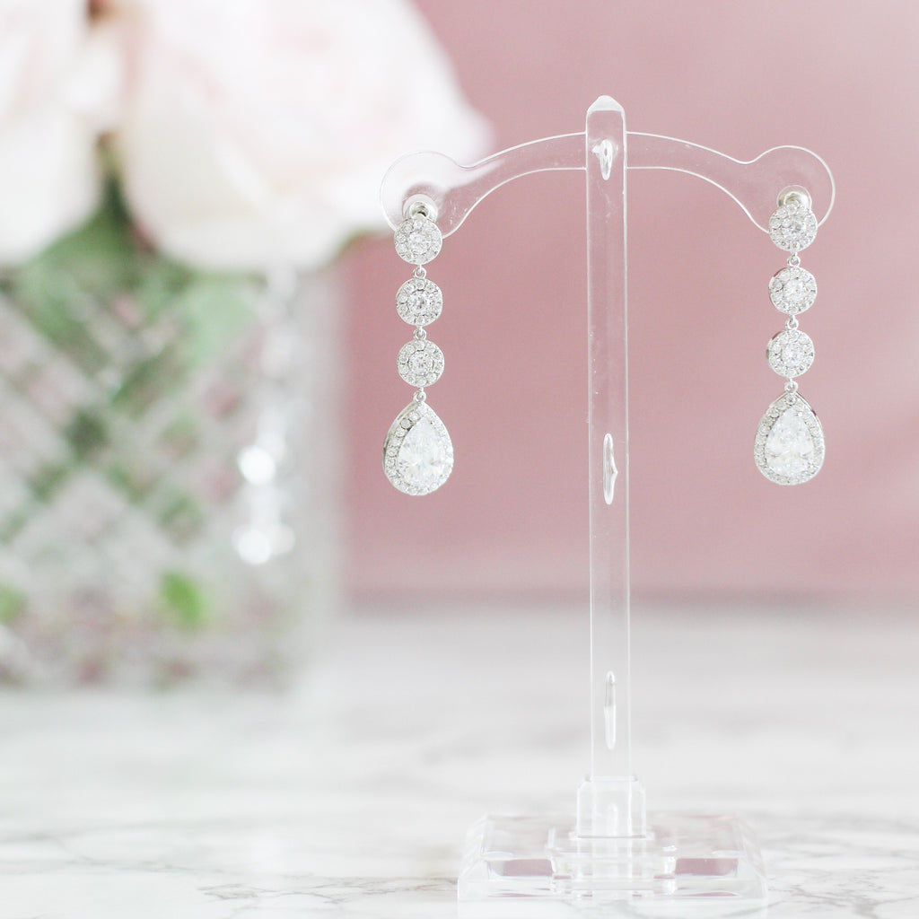 Wedding Day Earrings: Crytal - Bella and Bloom Boutique