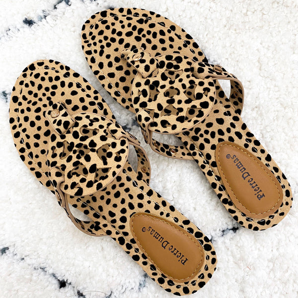 Paisley Medallion Sandals: Cheetah - Bella and Bloom Boutique