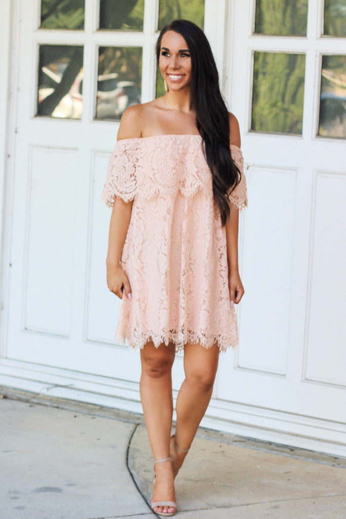 RESTOCK: Amazed By You Dress: Peach - Bella and Bloom Boutique