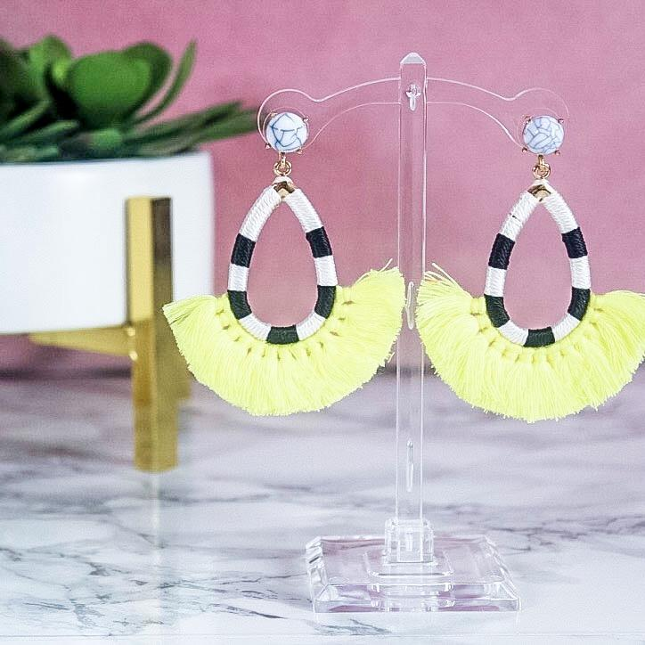 Call It What You Want Earrings: Yellow - Bella and Bloom Boutique