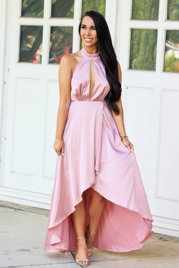 Wedding Season Maxi Dress: Blush - Bella and Bloom Boutique