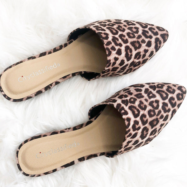 Katy Leopard Slides: Leopard - Bella and Bloom Boutique