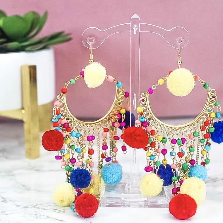 Take Me to Paradise Earrings: Multi - Bella and Bloom Boutique