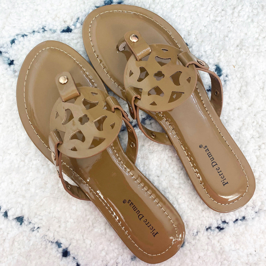 RESTOCK: Paisley Medallion Sandals: Mocha - Bella and Bloom Boutique