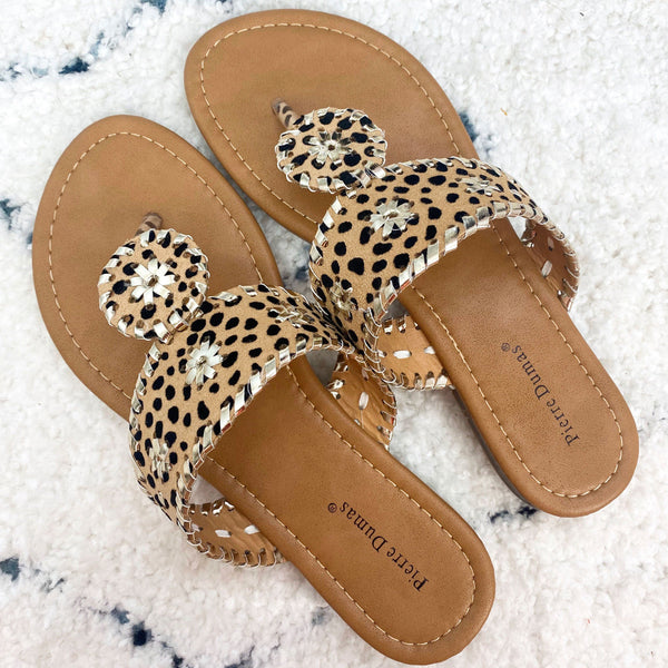 Isabella Sandals: Cheetah/Gold
