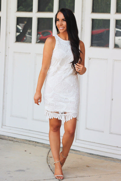 RESTOCK: Haleigh Dress: White - Bella and Bloom Boutique