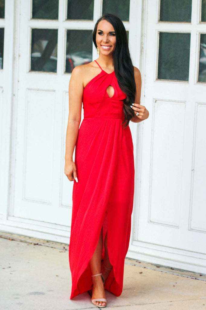 Sunset Dreams Maxi Dress: Tomato - Bella and Bloom Boutique