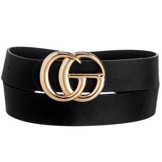 RESTOCK: Label Lover Belt: Black - Bella and Bloom Boutique