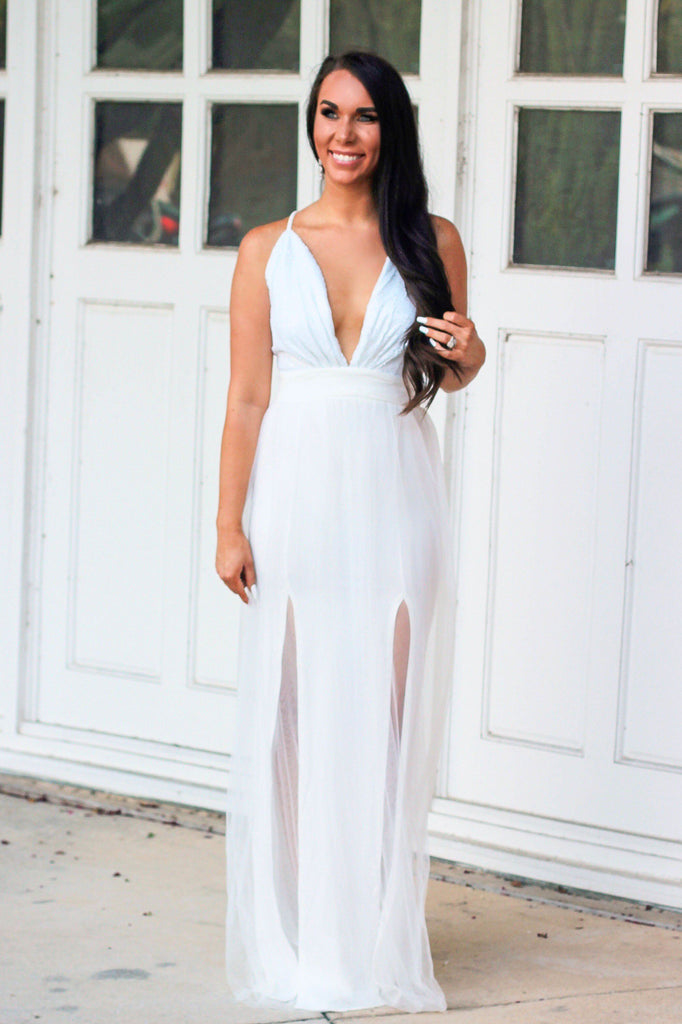 Beautiful Bride Maxi Dress: Ivory - Bella and Bloom Boutique