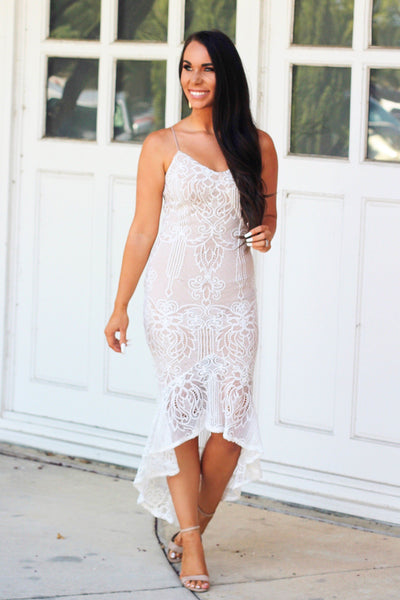 All My Life Midi Dress: Ivory - Bella and Bloom Boutique