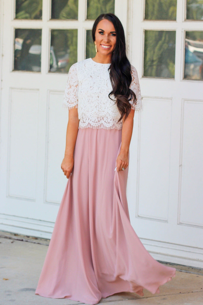 Sweet Romance Maxi Skirt: Blush - Bella and Bloom Boutique