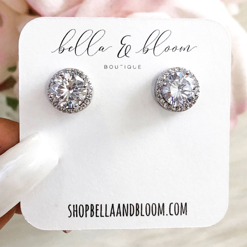 RESTOCK: Round Stud Earrings: Silver - Bella and Bloom Boutique