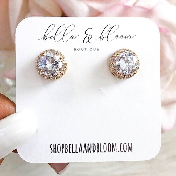 RESTOCK: Round Stud Earrings: Gold - Bella and Bloom Boutique