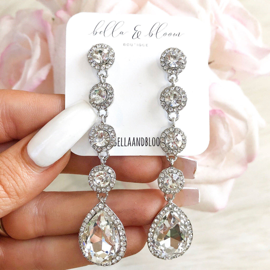 RESTOCK: Formal Nights Earrings: Silver - Bella and Bloom Boutique
