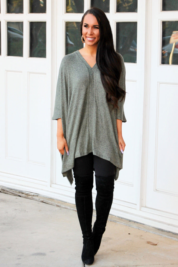 Worth it All Sweater: Olive - Bella and Bloom Boutique