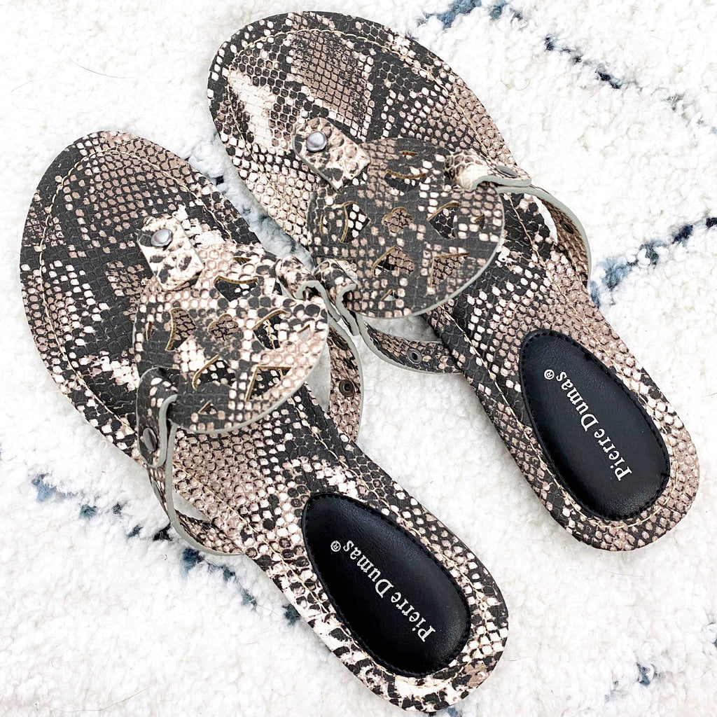 RESTOCK: Paisley Medallion Sandals: Python - Bella and Bloom Boutique